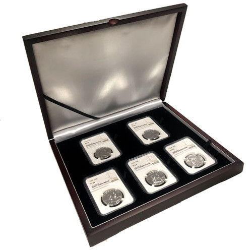 1960-1964 Four Franklins and a Kennedy NGC PF67 - The Ultimate Half Dollar Collection