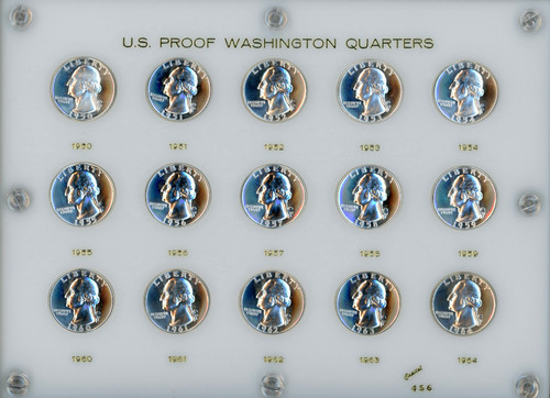 1950-1964 Proof Washington Quarter GEM Proof - in Holder