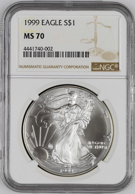 1999 Silver Eagle NGC MS70 - Key Date