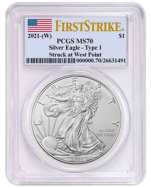 2021 (W) Silver Eagle PCGS MS70 First Strike - Type 1