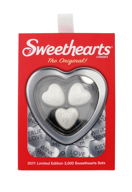 2021 30 gram Silver Sweethearts Candy PAMP Suisse 3-Heart Set .9999 Fine (w/Box)