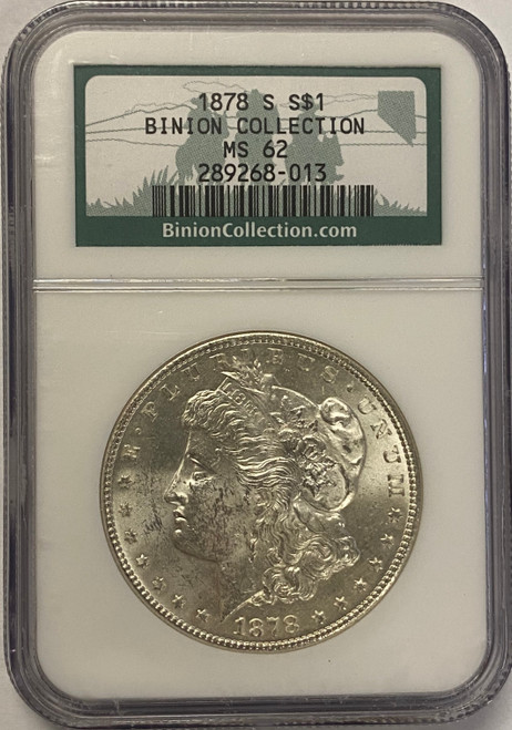 1878-S Morgan Dollar NGC MS62 - Binion Hoard