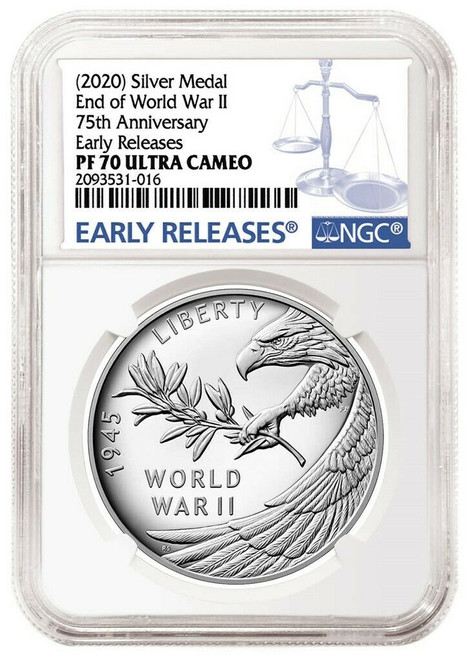 2020 WWII Silver Medal NGC PF70 UCAM Early Releases