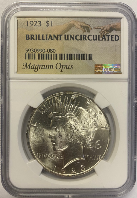 Peace Dollar NGC Brilliant Uncirculated - Magnum Opus