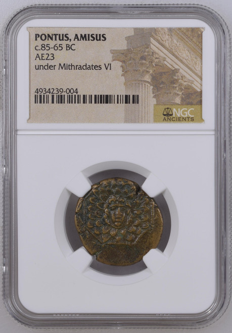 Pontus, Amisus Under Mithradates VI the Great Ancient Greek Coin NGC Certified