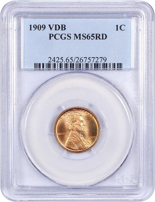1909 VDB Lincoln Penny PCGS MS65 RD