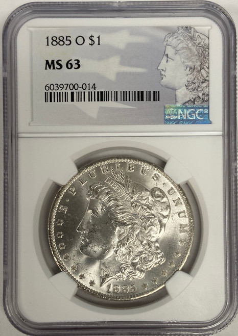 1885-O Morgan Silver Dollar NGC MS63 (New Orleans)