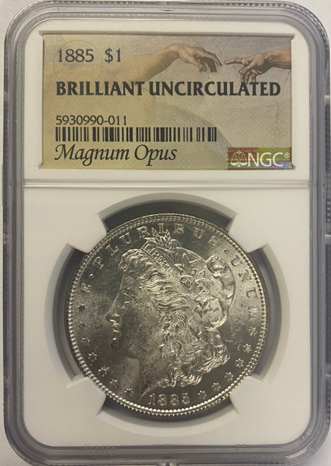 Pre-1921 Morgan Silver Dollar NGC Brilliant Uncirculated - Magnum Opus