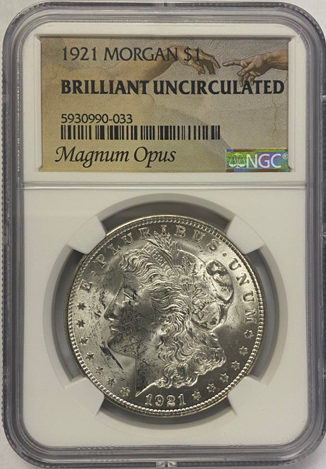 1921 Morgan Dollar NGC Brilliant Uncirculated - Magnum Opus