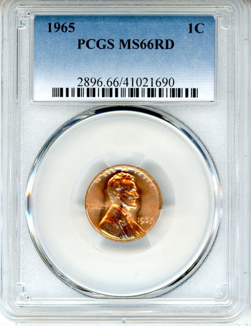 1965 Lincoln Penny NGC MS66 RD