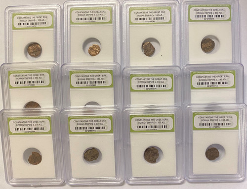 AD 330 Constantine the Great Era Bronze Roman Coins INB Certified