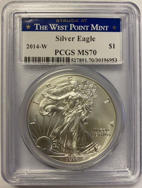 2014-W Burnished Silver Eagle PCGS MS70
