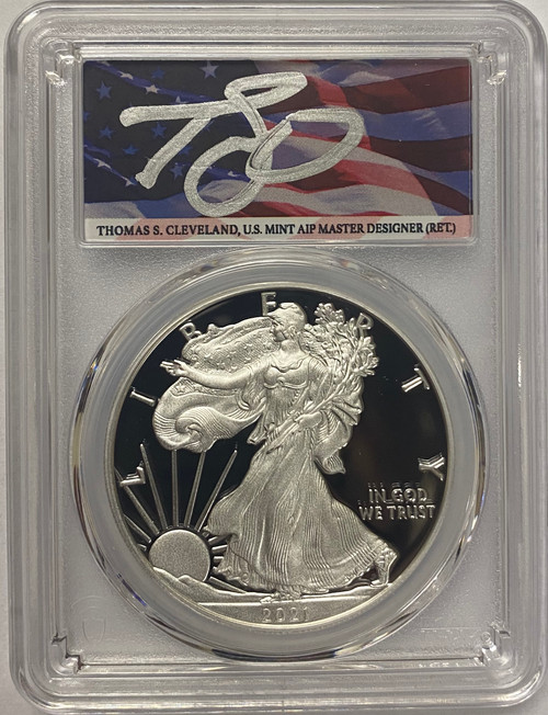 2021-W Proof Silver Eagle PCGS PR70 DCAM - Thomas Cleveland