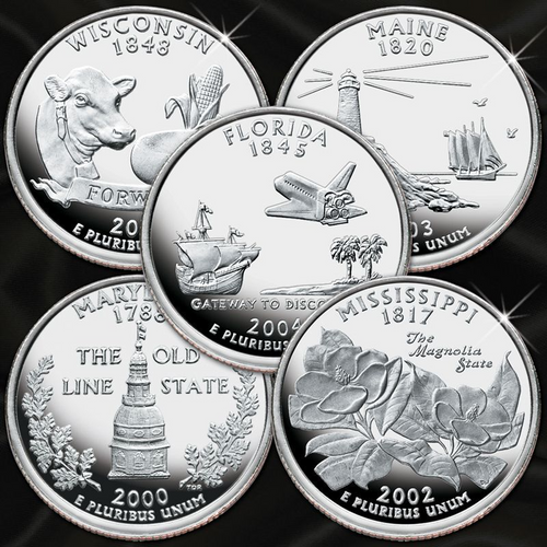 2000-2008 Silver Proof Statehood Quarter