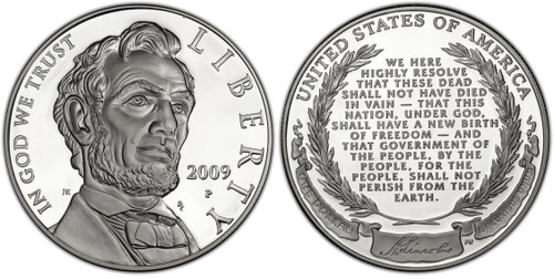 2009-P Abraham Lincoln Silver Dollar GEM Proof