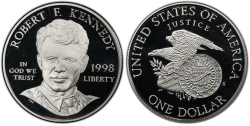 1998-S Robert F. Kennedy Silver Dollar GEM Proof