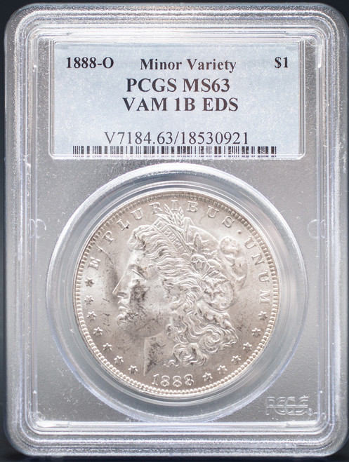1888-O Morgan Dollar PCGS MS63 VAM-1B EDS - Scarface