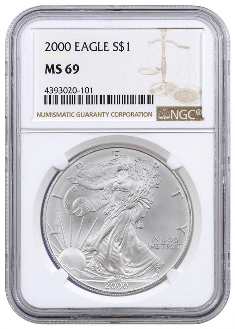 2000 Silver Eagle NGC MS69 - Turn of the Millennium