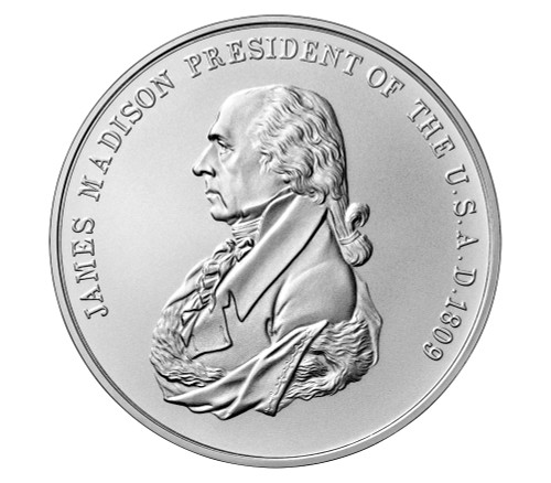 2019 James Madison Presidential Silver Medal - GEM Uncirculated