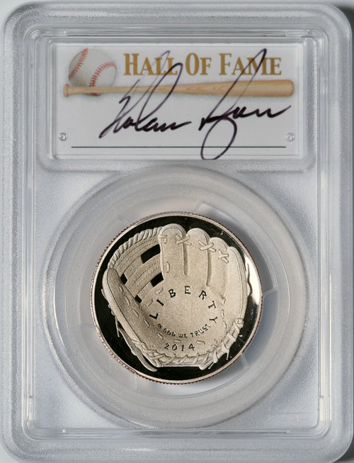 2014-S 50c Baseball Coin PCGS PR70 Nolan Ryan Signed