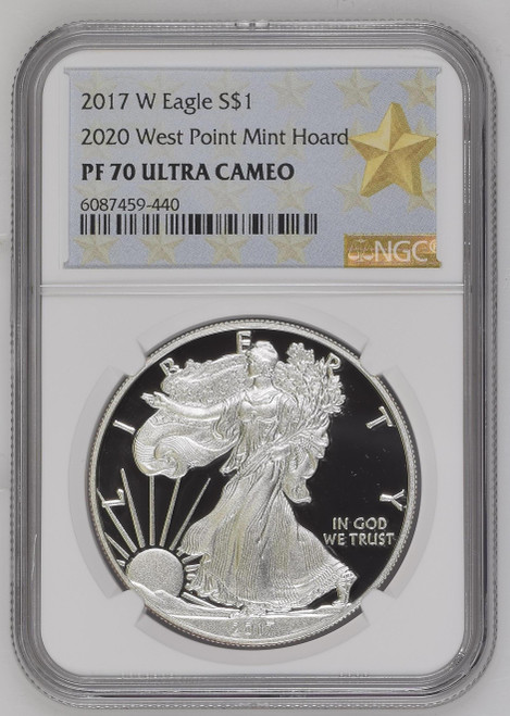2017 (2020) Silver Eagle NGC PF70 West Point Mint Hoard Star Label