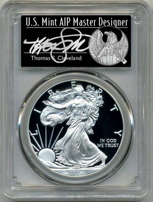 2016 (2020) Silver Eagle PCGS PR70 Thomas Cleveland - WP Mint Private Auction