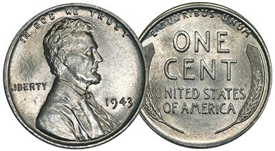 1943 Steel Pennies