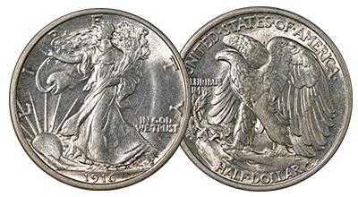 Uncertified Walking Liberty Half Dollars