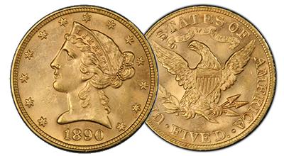 $5 Gold Liberties