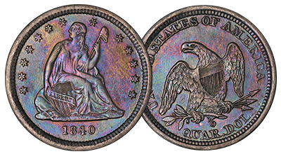 Seated Liberty Quarters