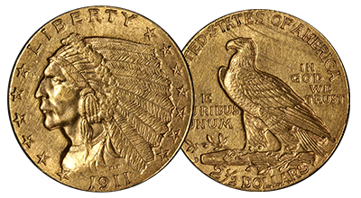 $2.5 Gold Indians