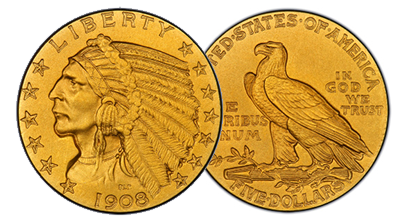 $5 Gold Indians