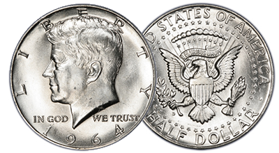 Uncertified Kennedy Half Dollars