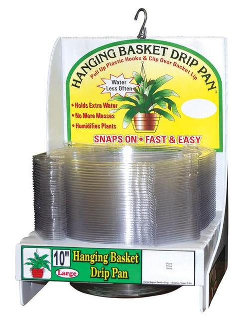 """Hanging Basket Drip Pan 10"""""""