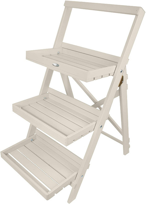 Stepped Plant Stand - White