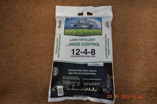 12-4-8 Moss Control Lawn Fertilizer 20#