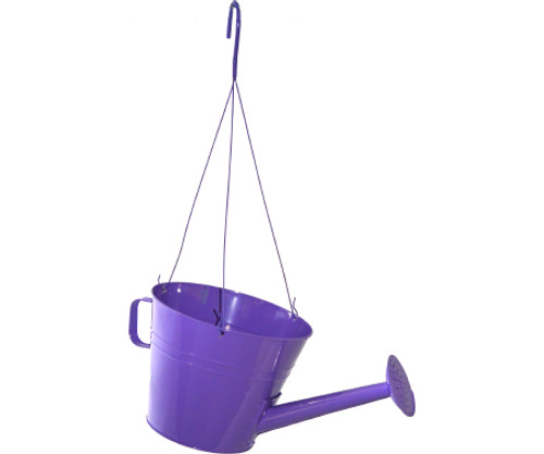 """Hanging Watering Can Key West Assorted Colors 10"""""""