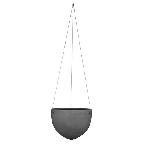 "7"" Dark Stone Hanging Pot"