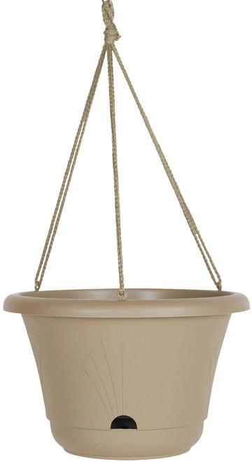 "7"" Taupe Stone Hanging Pot"