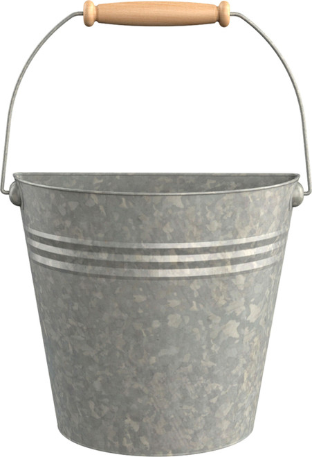 "10"" Galvanized Half Bucket"
