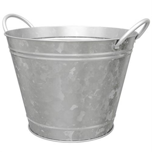 """14"""" Round Galvanized Wash Tub Planter"""