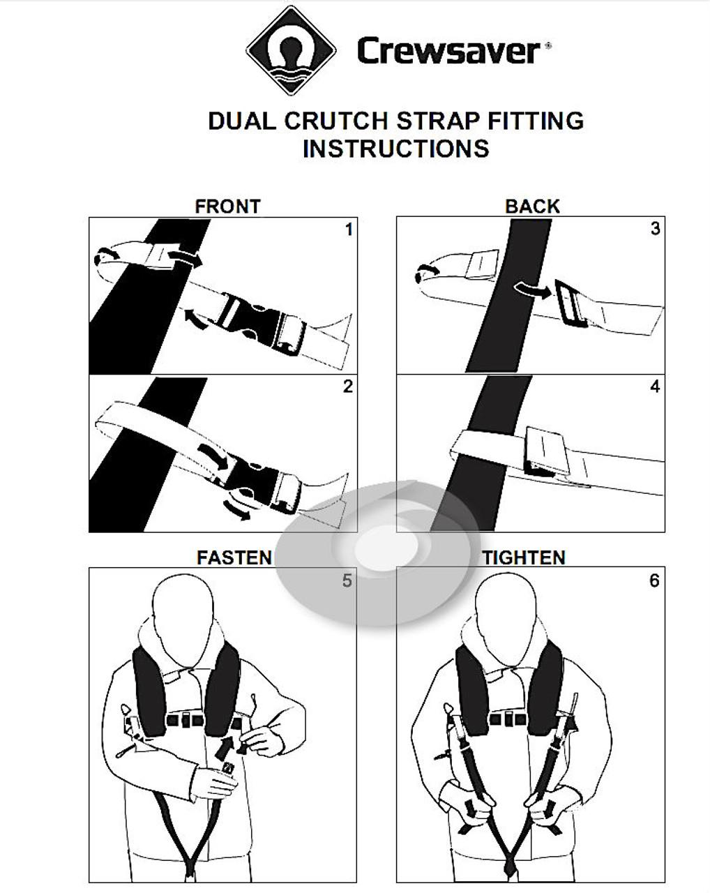 Life Jacket Crewsaver Crewfit Universal Dual Crotch Strap
