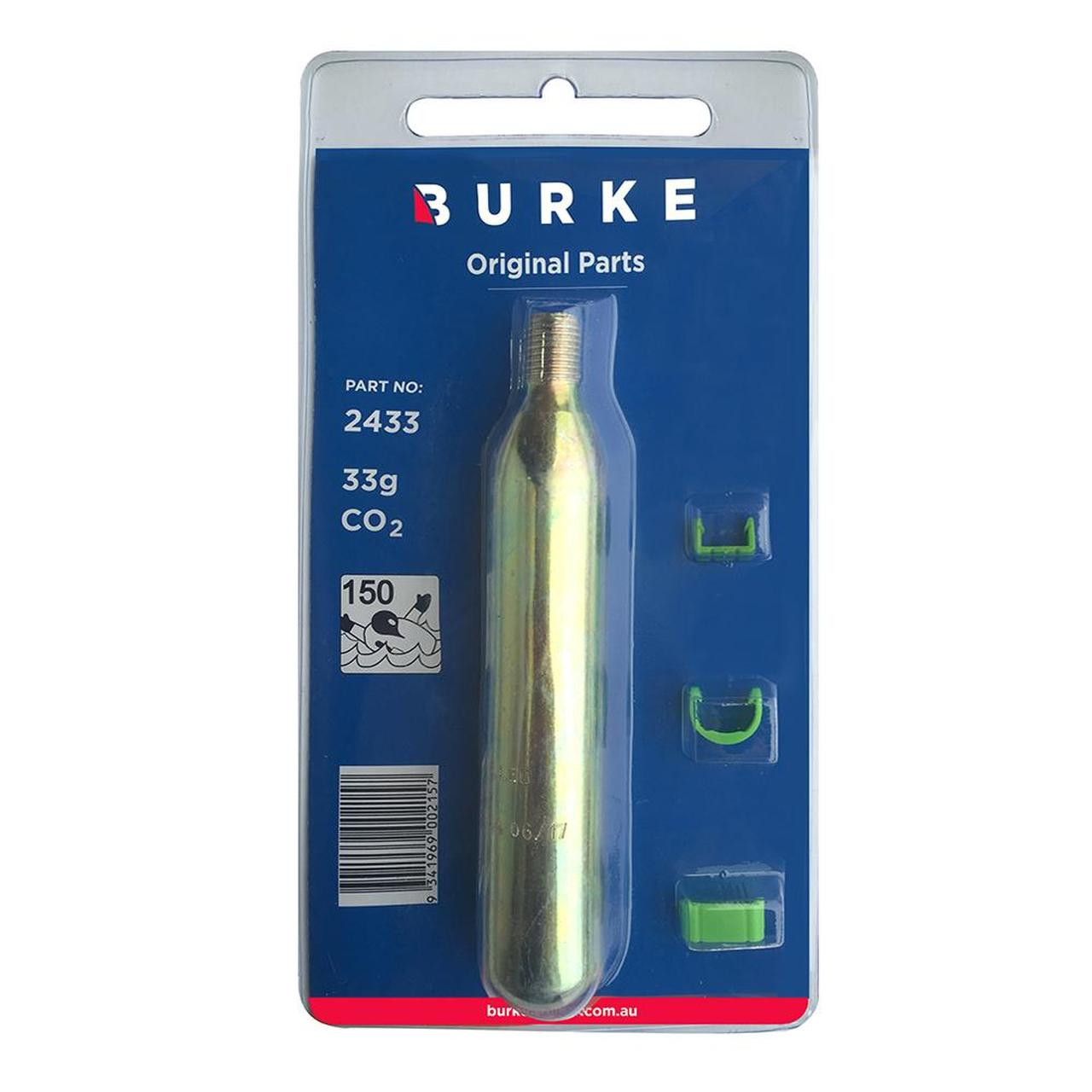 Burke Life Jacket PFD Recharge 33g CO2 Kit with clips