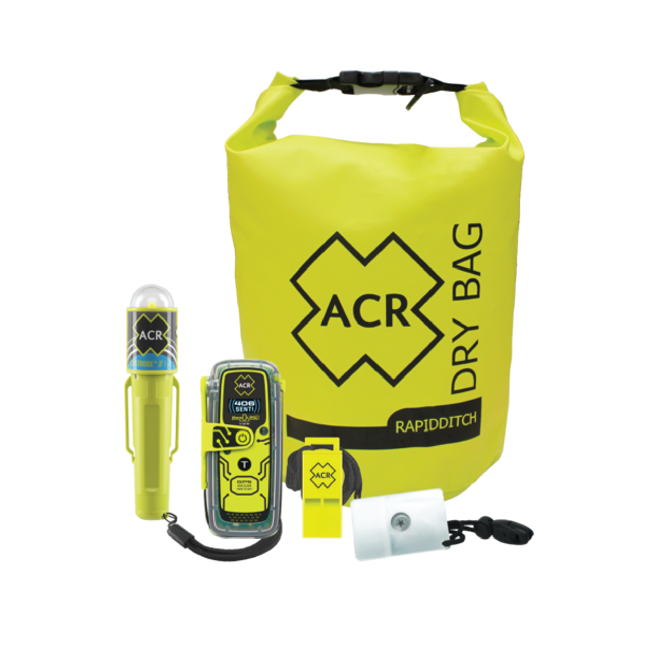 ACR RESQLINK 425 VIEW NZ CODED 406 MHZ GPS BUOYANT PLB-425 with DIGITAL DISPLAY SURVIVAL KIT