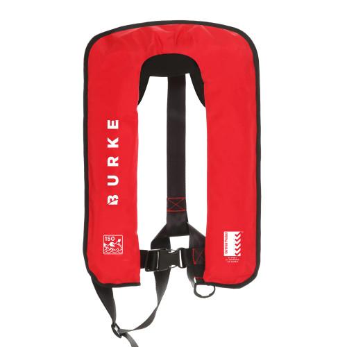 Burke Lifejacket 150N Red Automatic Inflatable Lifejacket