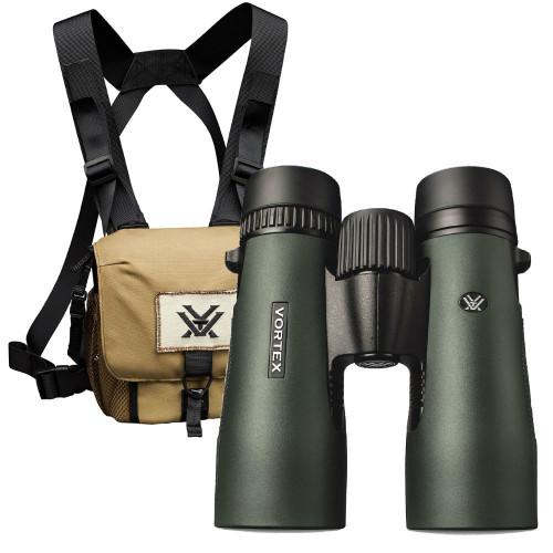 Vortex Diamondback HD 12x50 binocular now with GlassPak Harness included.