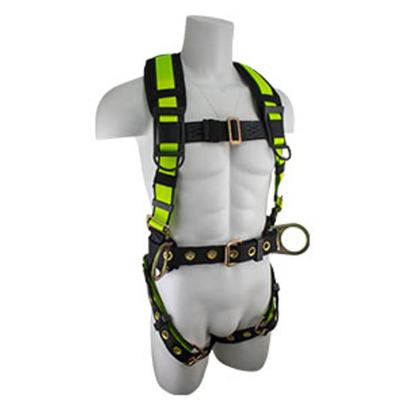 SafeWaze PRO Construction Harness w/ Fixed Back Pad
