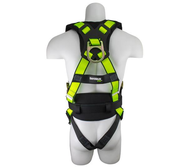 SafeWaze PRO Construction Harness w/ Fixed Back Pad Rear
