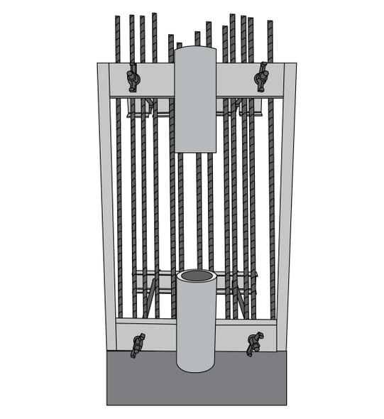 SafeWaze SAFELINK EZ-Link Double Connector On Rebar Cage