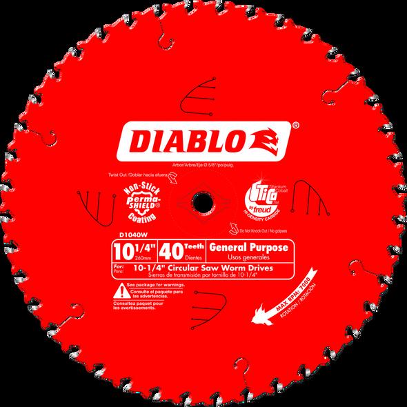 "Diablo 10-1/4"" 40-Tooth Bigfoot Circular Saw Blade for Wood"